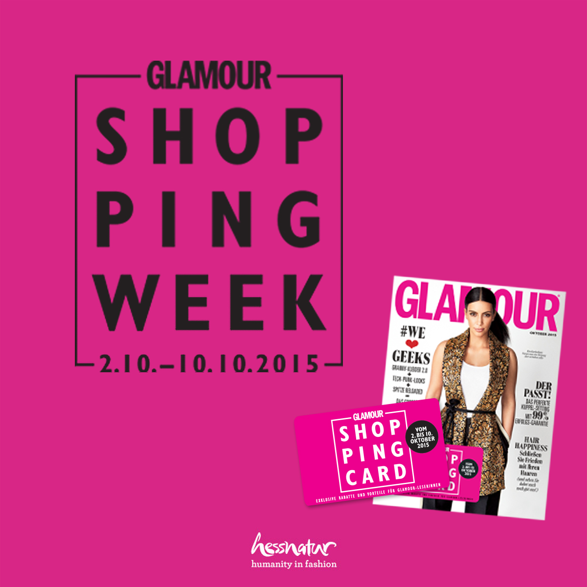 glamour karte Es geht los: Die Glamour Shopping Week!   hessnatur Magazin glamour karte