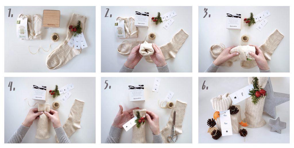 geschenke originell verpacken 4 nachhaltige diy hacks. Black Bedroom Furniture Sets. Home Design Ideas