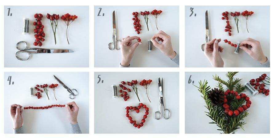 DIY Bastelanleitung für Beeren-Herzen