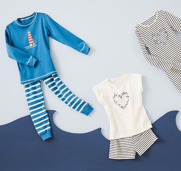 Kinderkollektion hessnatur Nachtwäsche für Mädchen und Jungen