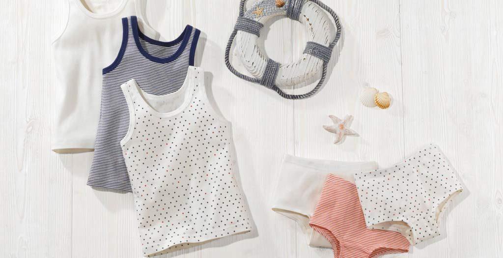 Unterwäsche der neuen Kinderkollektion