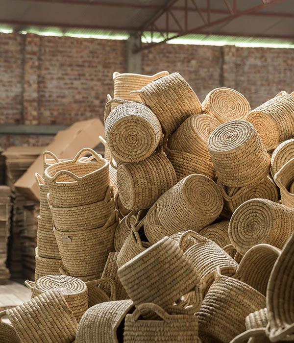 Bangladesch Koerbe Fabrik