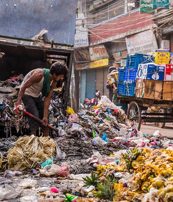 Bangkladesch Dhaka Stadt Abfall