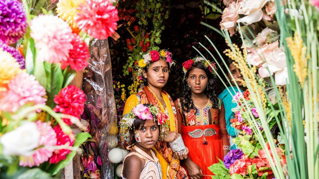 Bangladesch Blumen Feiertag