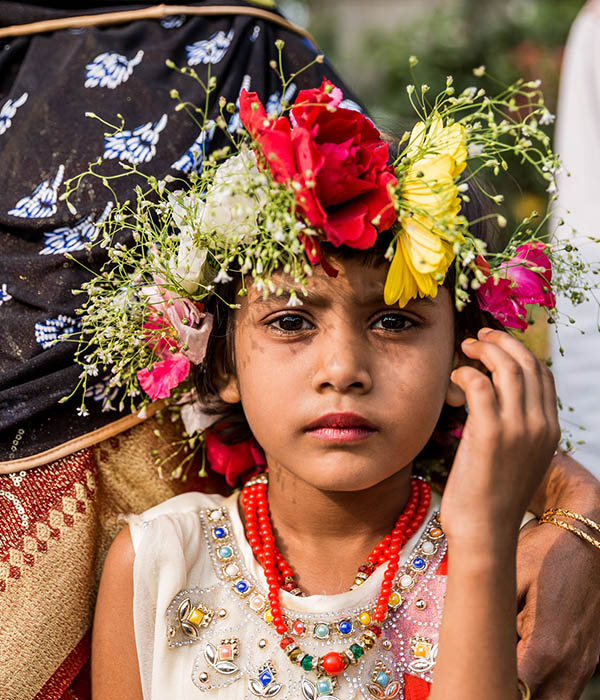 Bangladesch Blumenschmuck