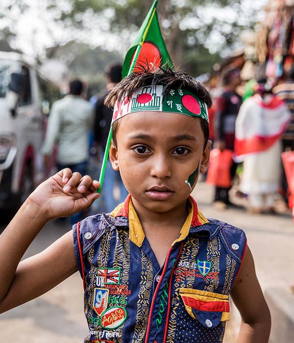Bangladesch Feiertag Kind