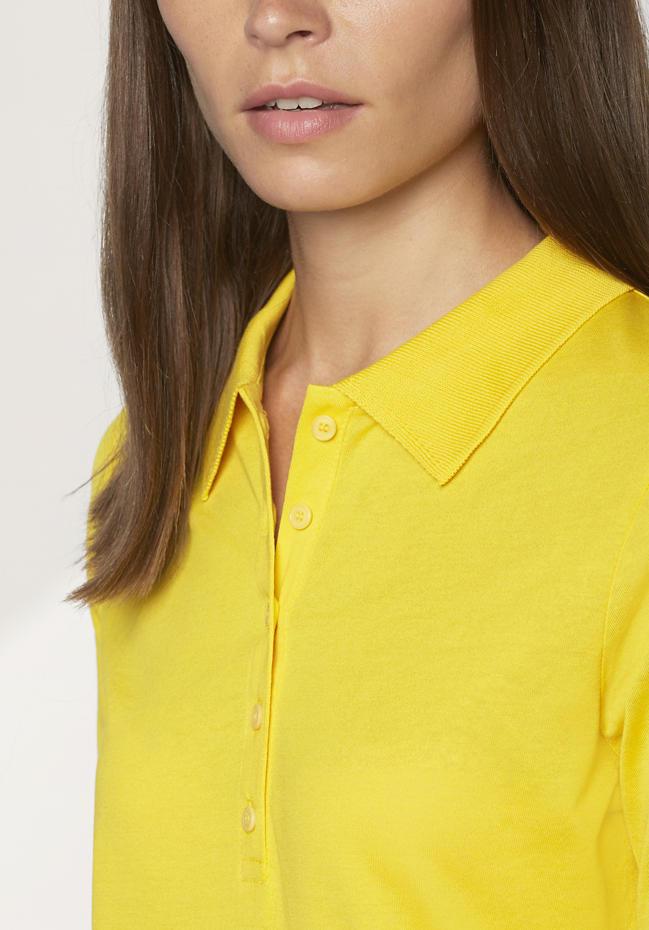 hessnatur gelbes Polo-Shirt