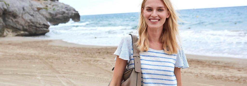 Mode-Trend Streifen nachhaltig gestylt
