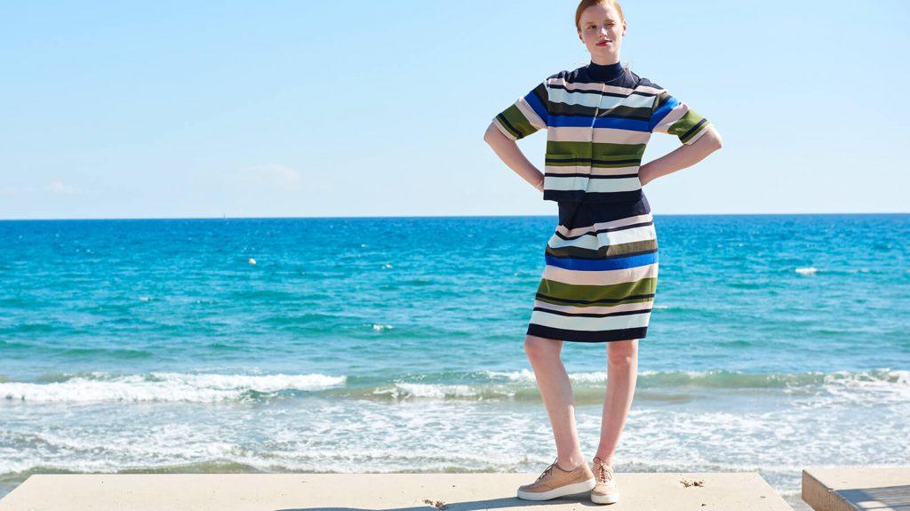 hessnatur Streifen Mode Trend Jacke Rock