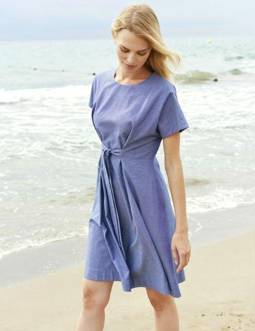 Bio-Kleid im Maritim Style