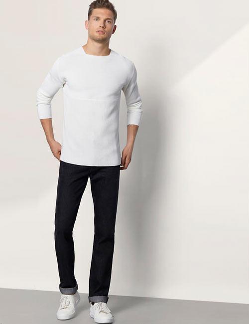 Schwarz-Weiß-Look für Herren