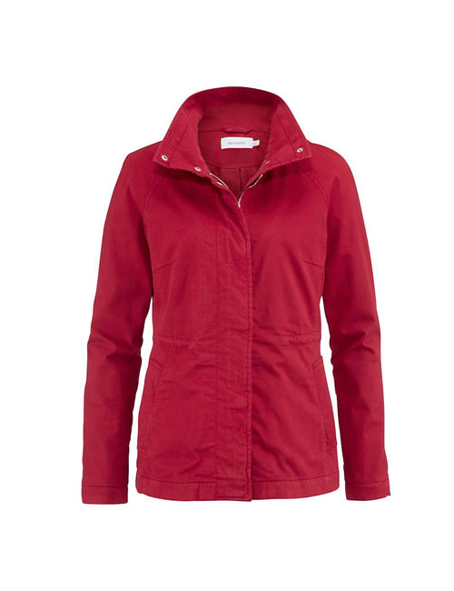 hessnatur Parka in Cranberry Rot