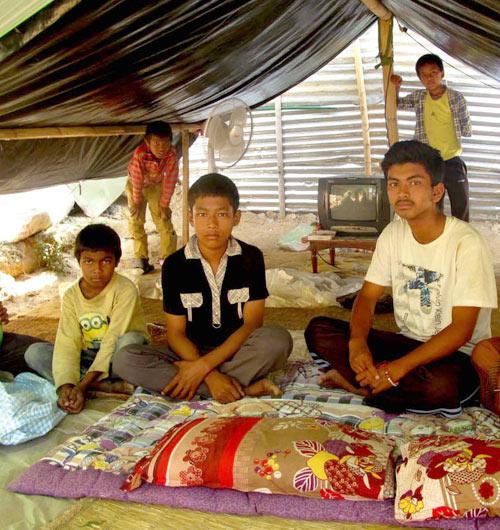 Erdbeben-Flüchtlinge in Nepal