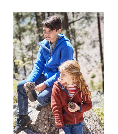 Bio-Schurwoll-Jacken für Kinder