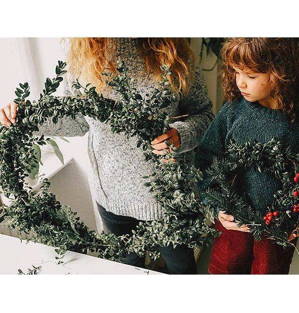 hessnatur Wasteless X-Mas Weihnachtskränze