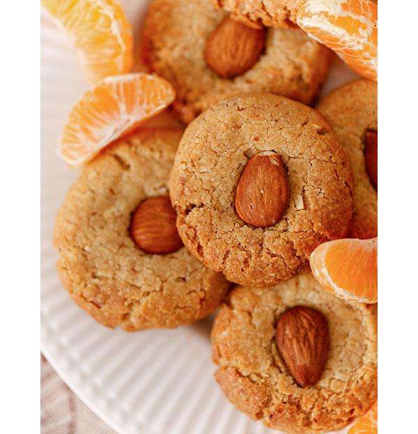 Orangen Mandel Plätzchen