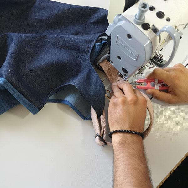 Ressourcenschonende Produktion der Betterecycling Taschen von hessnatur