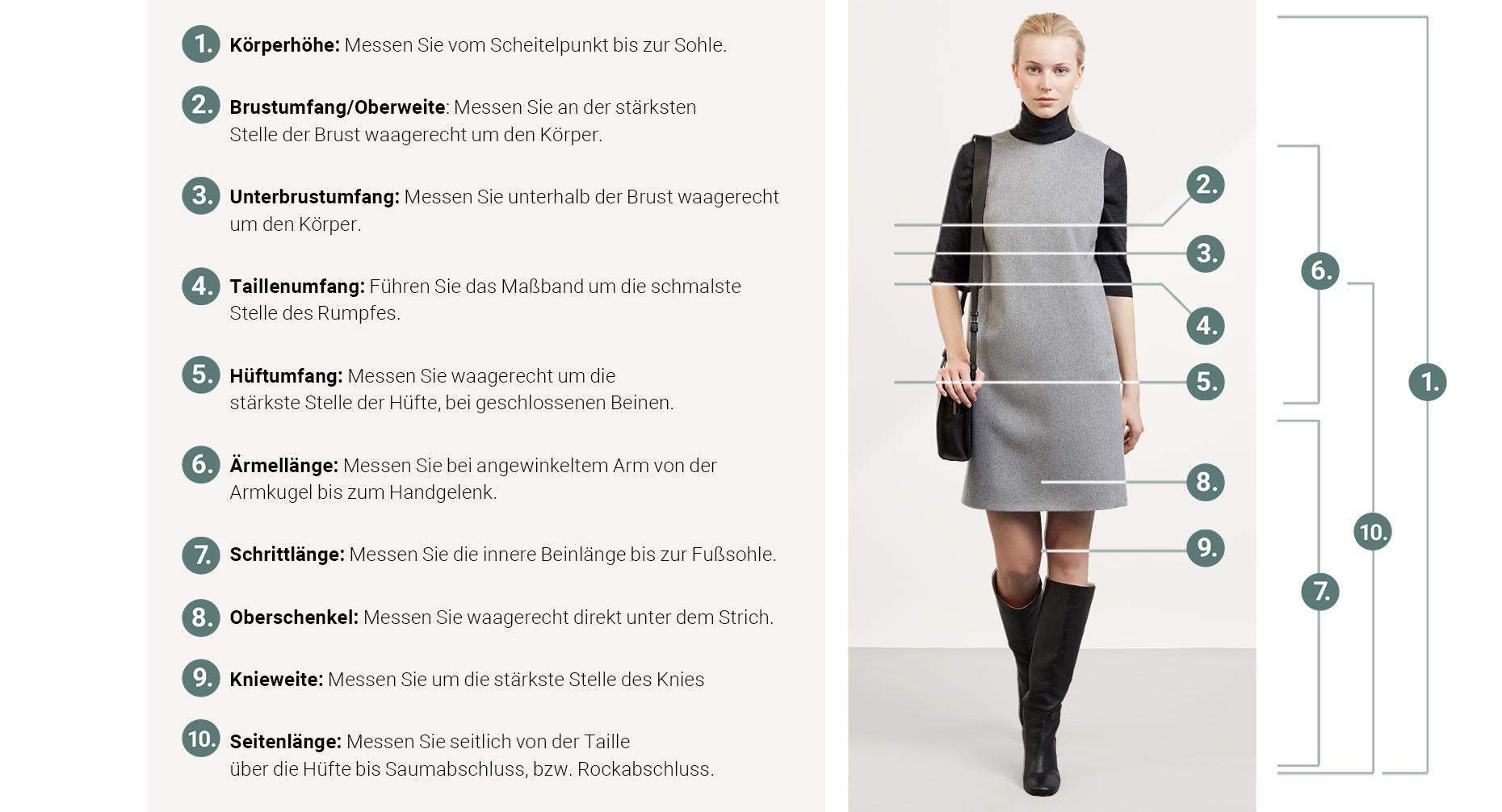 finest selection b96ef 3e375 Größentabelle für Damenmode - Größenberatung - hessnatur ...