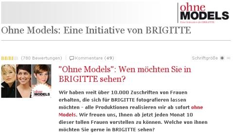 Brigitte ohne Models