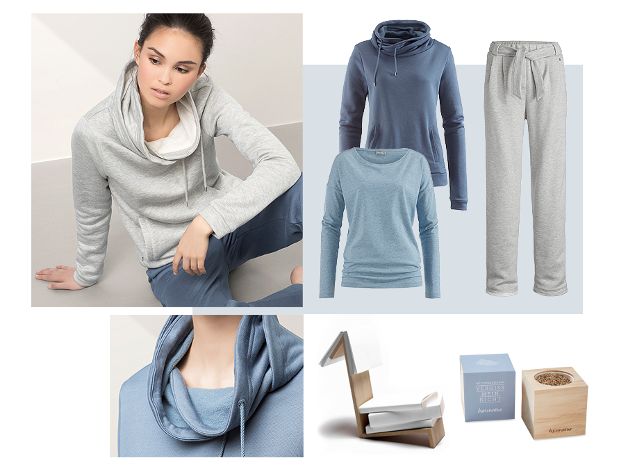 hessnatur Home- und Loungewear in graublau