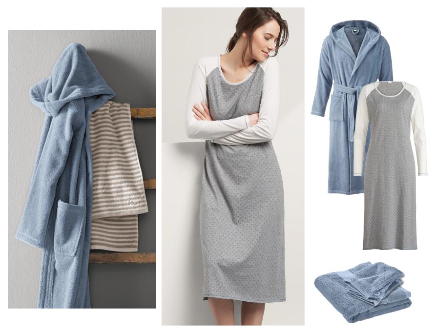 hessnatur Homewear Bademantel und Nachthemden in Bio-Qualität