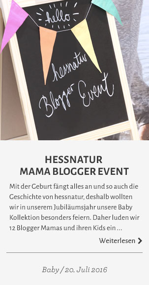 hessnatur Mama Blogger Event