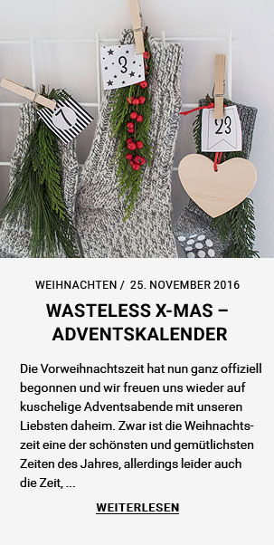 WASTELESS X-MAS – ADVENTSKALENDER